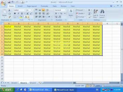 tutorial microsoft excel 2007 full microsoft excel 2007 page layout tab tutorial in dari