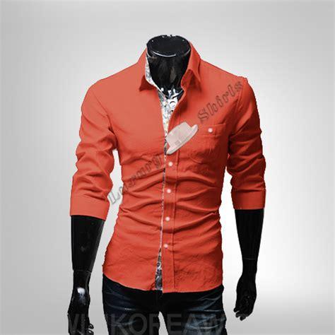 Quality Mens Style White Ot Kemeja Pria Katun Str the mode baru 2014 katun cetak warna luang kain linen
