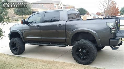 toyota tundra 2012 lifted wheel offset 2012 toyota tundra hella stance 5 lifted 9