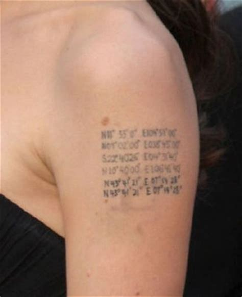 angelina jolie tattoo latitude longitude tattoologist formspring me