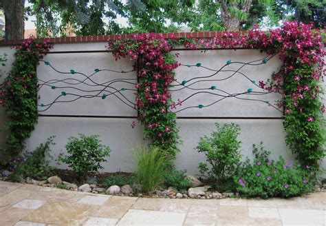 wall designs garden wall framed with leaves