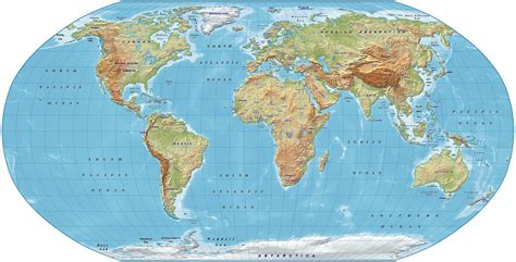 robinson map digital vector royalty free world relief map in the robinson projection regular color uk