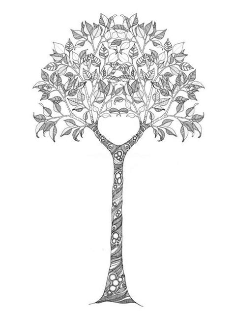 Tree Coloring Pages For Adults Free Printable Tree Tree Coloring Page For Adults