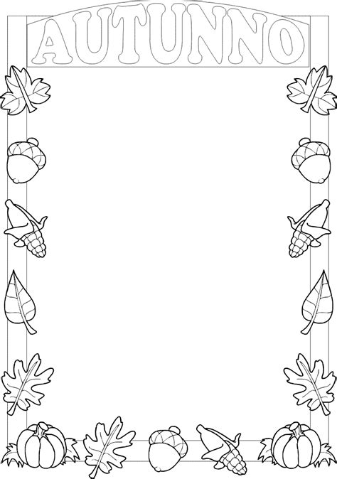 cornice autunno cornicette autunno da colorare cornicette autunno