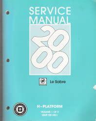 service manuals schematics 2000 buick lesabre auto manual 2000 buick lesabre factory service manual 2 volume set