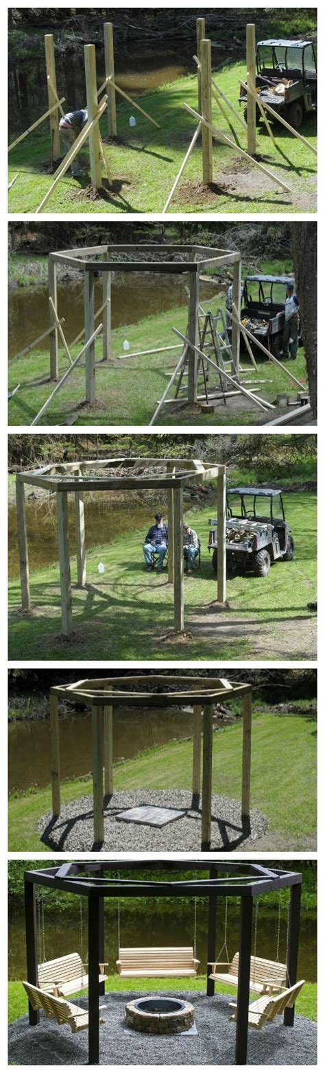 swings around fire pit diy backyard swing circle my house my homemy house my home