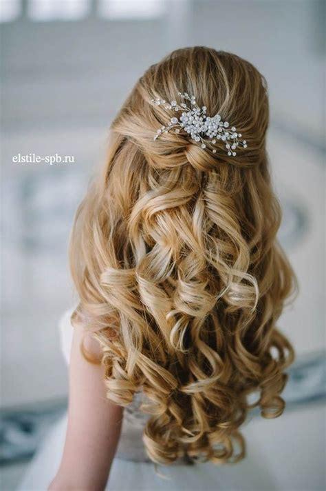 stunning half up half down wedding hairstyles