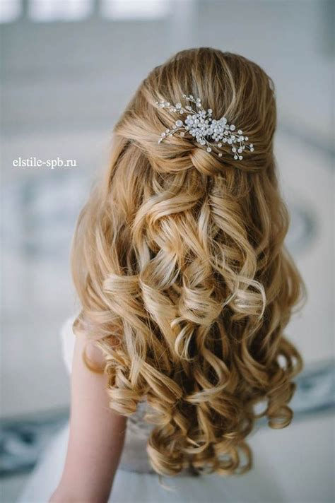 stunning half up half wedding hairstyles