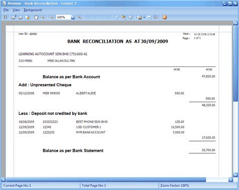 supplier reconciliation template bank reconciliation