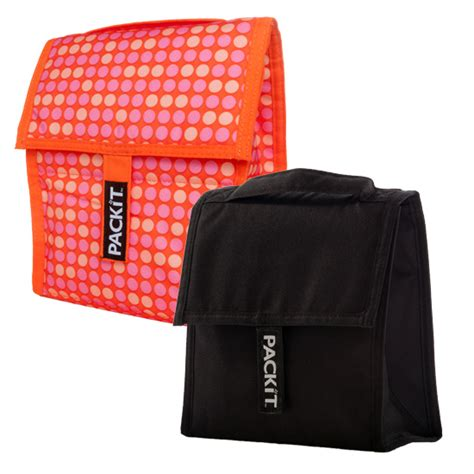 Cooler Bag Blueberry Black Mini Polka packit freezable lunch bags