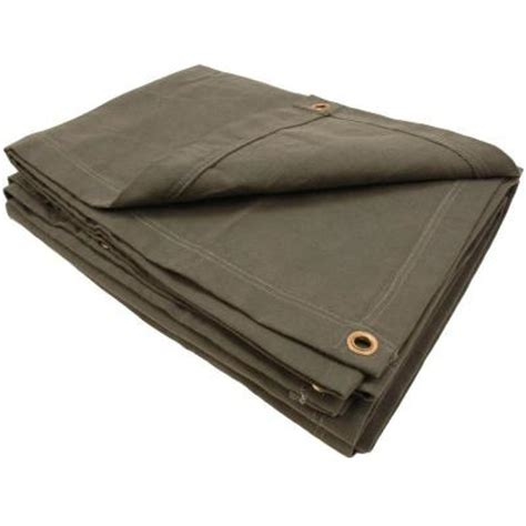 sigman 7 ft 8 in x 11 ft 8 in 15 oz olive drab heavy