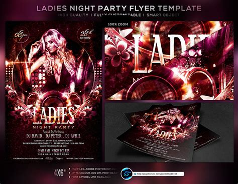 ladies night party flyer template by ranvx54 on deviantart