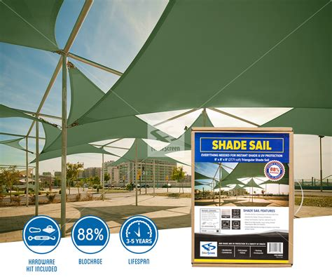 triangle shade sails for residential commercial areas