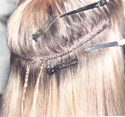 sewing in hair extensions at home hair fortheloveofhappiness