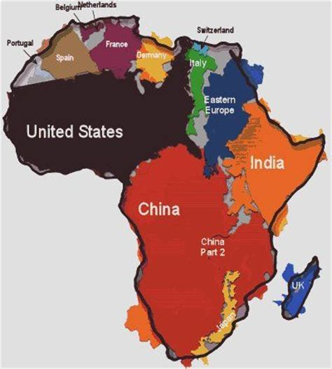 africa map indian how big is africa amazing visual image holds the us