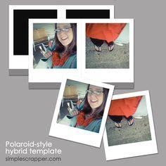 Blank Polaroid Frame Background Puzzle Frame Template Psd Photo Re Graphic Design Logos 4x6 Polaroid Template