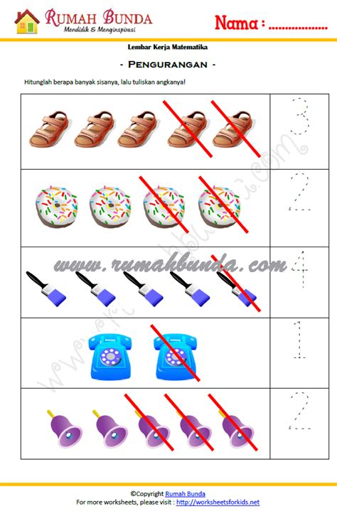 Buku Anak Belajar Matematika Ceria Untuk Paud Tk matematika anak tk rumah bunda