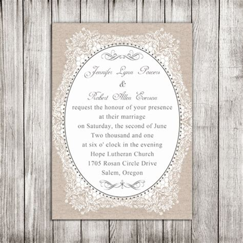 cheap burlap wedding invitations burlap printed vintage floral wedding invitations ewi268 as low as 0 94