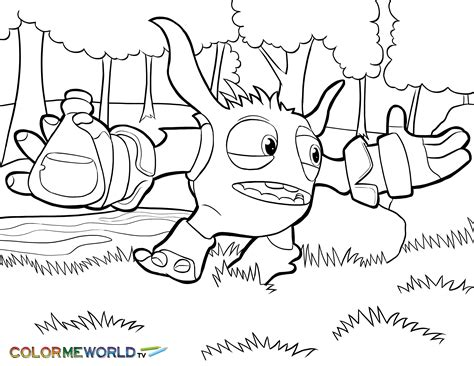 Pop Fizz Coloring Pages skylanders pop fizz coloring page pop fizz free color page