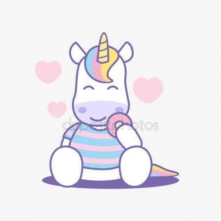 imagenes de unicornios blanco y negro dibujos animados lindo unicornio comiendo donut