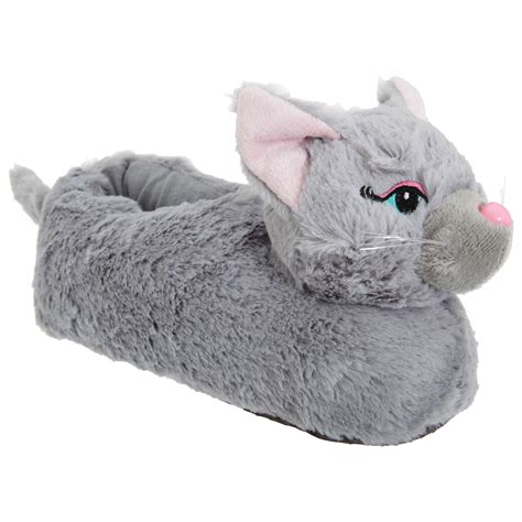 fluffy animal slippers womens fluffy 3d animal slippers ebay