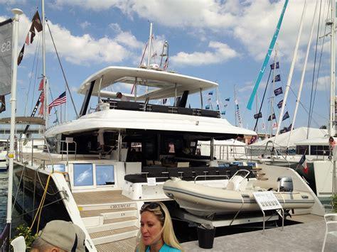 catamaran vs motor yacht catamaran dreams at the miami boat show the sailing rode