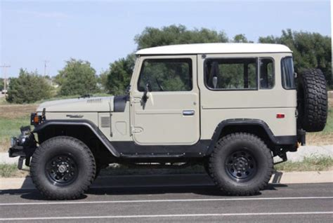 icon fj40 4 door resto mod 1978 fj40 landcruiser in dune beige