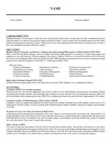subject resume
