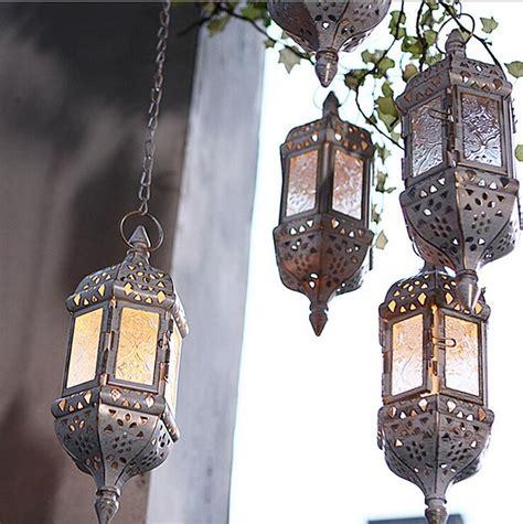 6 5x7cm vintage tea light holder w metal rim 6 72 apac vintage metal hollow glass moroccan hanging tea light