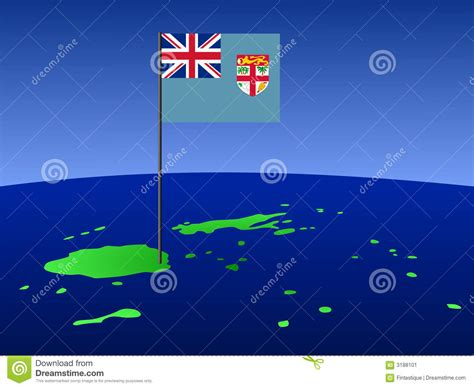 design graphics fiji map of fiji with flag stock image image 3188101
