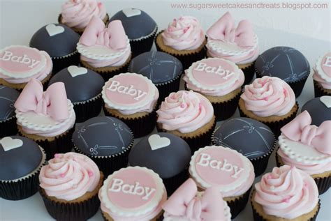 Baby Shower Pink Cupcakes by Gray And Pink Baby Shower Cupcakes Cakecentral