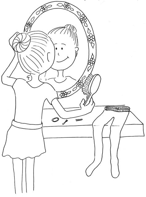 coloring pages of combing hair children dance millicent mouse s blog