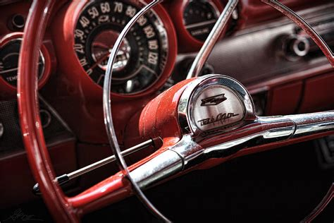 Chevy Home Decor by 1957 Chevrolet Bel Air Steering Wheel Photograph By Gordon