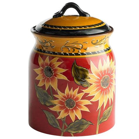 sunflower kitchen canisters 71 best canisters images on pinterest kitchen ideas