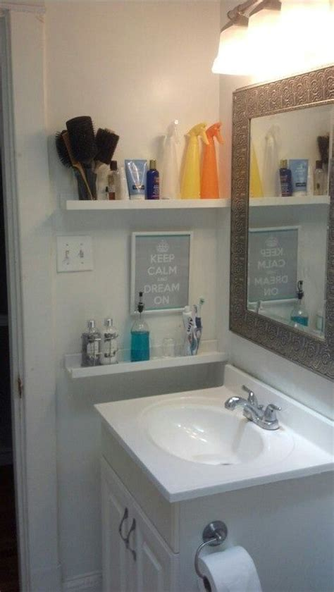 bathroom shelf ideas pinterest best 25 small bathroom storage ideas on pinterest