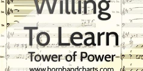 tower of power horn section willing to learn horn chart pdf horn band charts