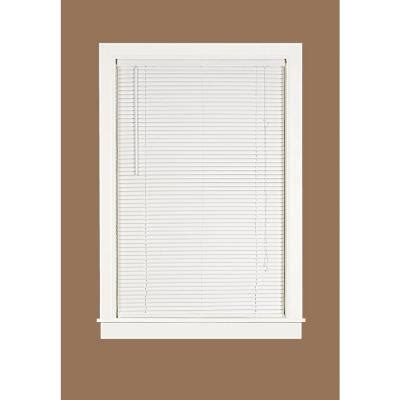 deluxe sundown white 1 in room darkening vinyl mini blind