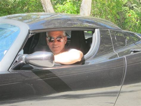 George Tesla George Clooney To Auction His Tesla Roadster For
