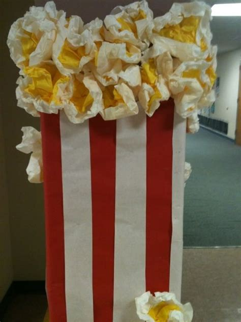 popcorn centerpiece ideas large popcorn prop decoration for a themed