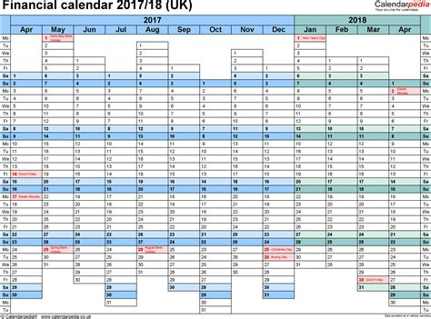 Calendar December 2017 January 2018 Excel Financial Calendars 2017 18 Uk In Microsoft Excel Format