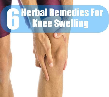6 knee swelling herbal remedies treatments and