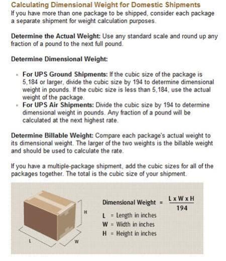 dimensional weight calculator shipping coach