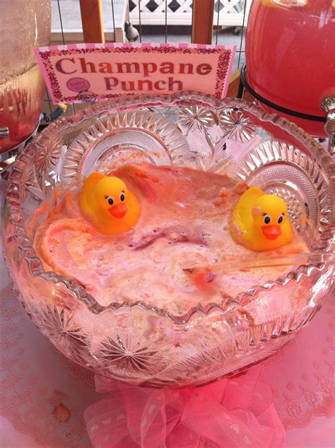 Rubber Ducky Baby Shower Punch by Baby Shower Punch With Rubber Duckies