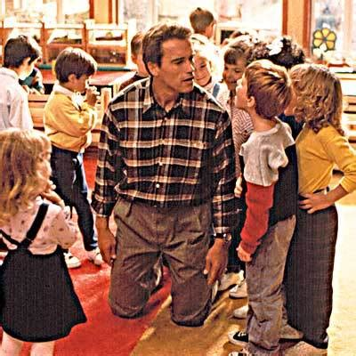kindergarten cop there is no bathroom top 50 arnie film quotes the ever spinning reel
