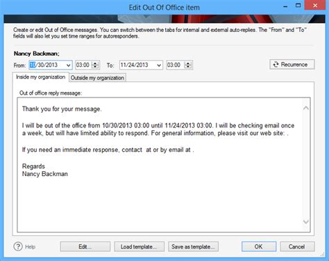 Office Mail Codetwo Out Of Office Manager Screenshots