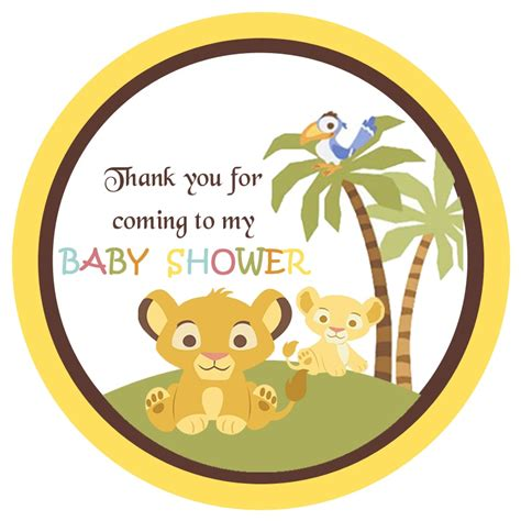 Simba Baby Shower Favors by Simba King Shower Gift Tags Baby Shower Gift Tags