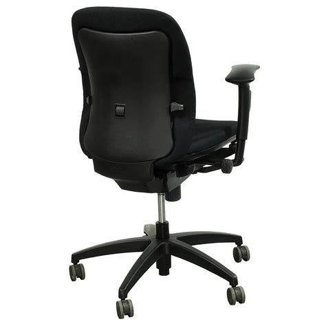 teknion office furniture teknion amicus synchro used midback task chair black
