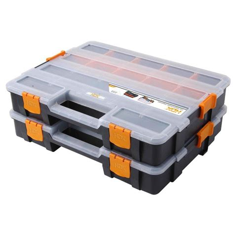 hdx 15 compartment interlocking organizer black 2 pack