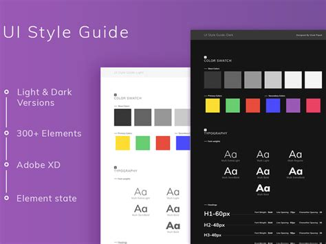 Psddd Co Free Photoshop Sketch Ui Templates Sketch Style Guide Template