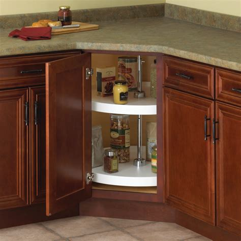lazy susan cabinet organizers kitchen real solutions 20 quot circle polymer lazy susan 2 shelf